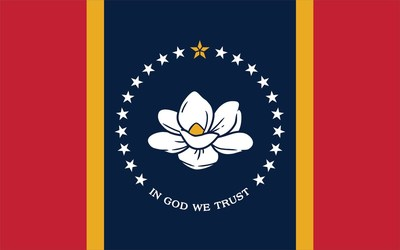 Mississippi's new In God We Trust flag