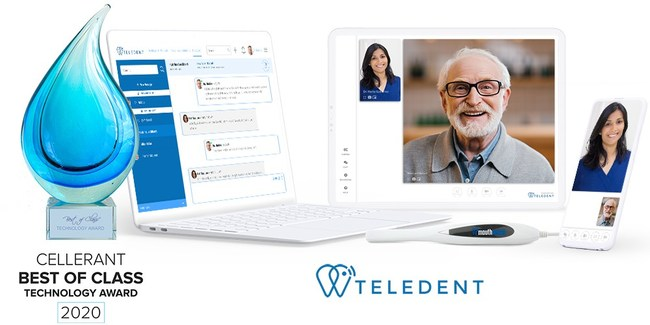 A 2020 Cellerant Best of Class Technology award winner: TeleDent™ by MouthWatch, a teledentistry platform that provides both dental professional workflow tools and patient-facing solutions.