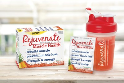 Rejuvenate™ - patented formulation demonstrated through 25+ clinical trials, to help prevent muscle loss due to aging (Sarcopenia) (CNW Group/Element Nutritional Sciences Inc.)