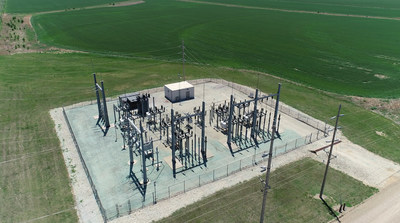 A transmission substation in the City of Winfield, Kansas.
