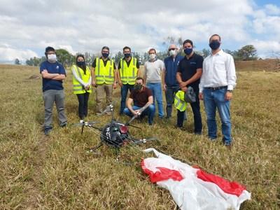 Speedbird Aero team with ANAC officials after successful live parachute deployment