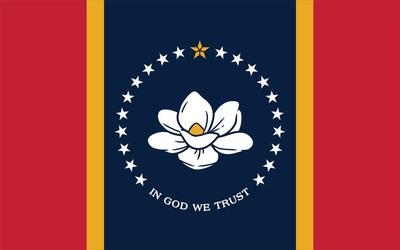"""La nueva bandera """"En Dios confiamos"""" de Mississippi (PRNewsfoto/MDAH)"""