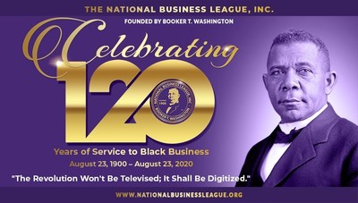 The National Business League, Inc. Celebrating 120 Years of Service to Black Business. August 23, 1900 - August 23, 1920. Founded by Legendary Booker T. Washington