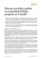 Kincora provides update on expanded drilling program at Trundle