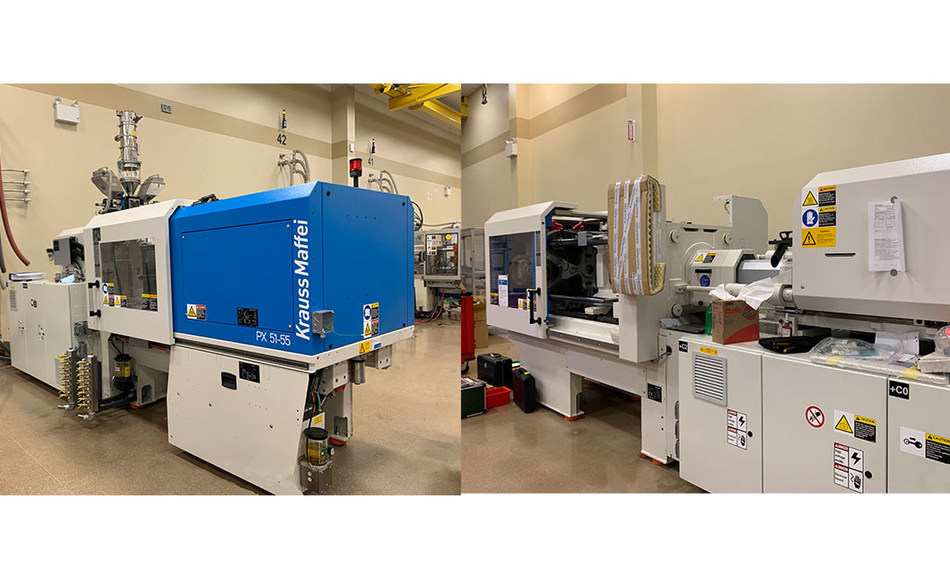 HTI Plastics added two new injection molders to their manufacturing line. These include a 50-ton and an 80-ton Krauss Maffei.