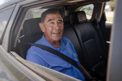 Feonix Wellness passenger enjoys the service in Corpus Christi, Texas.