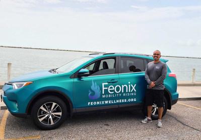 Toyota RAV4 Feonix Wellness vehicle with Lead Driver, Stephen.