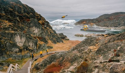 Quark Expeditions passengers explore Ilulissat Icefjord in Greenland. Photo by Sam Edmonds.
