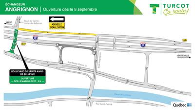 Ouverture pont boulevard de Sainte-Anne-de-Bellevue (Groupe CNW/Ministère des Transports)