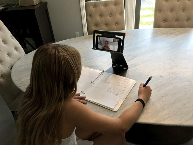 TutorCam Pro and TutorCam Go create a second camera view for live video remote learning, online college lectures or business conference video calls. You do not need an app or additional software and the TutorCams are inexpensive, light and easy to use.