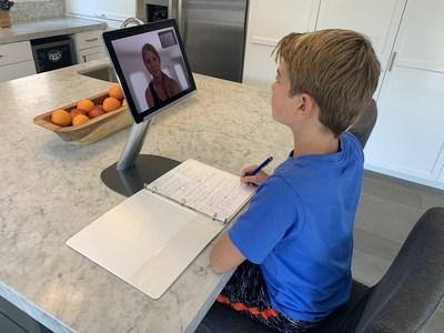 TutorCam Pro and Go allow teachers and students to not only view each other during live remote learning classes, but a second camera shows their workbooks or other lesson materials. It is an extra, valuable dimension to remote learning.