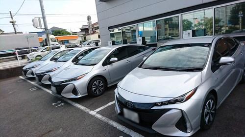 Toyota Prius PHEV performing bidirectional V2G
