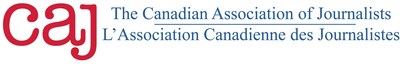 Logo: The Canadian Association of Journalists (CAJ) (CNW Group/Canadian Association of Journalists)