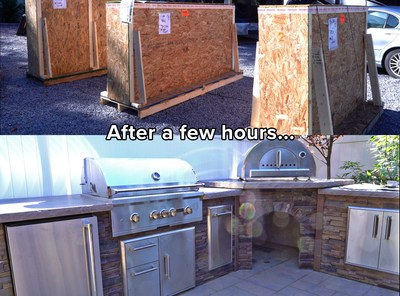 Build an Outdoor Kitchen or Fire Feature in a Couple of Hours