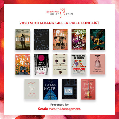 THE SCOTIABANK GILLER PRIZE PRESENTS ITS 2020 LONGLIST (CNW Group/Scotiabank)