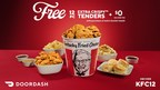 KFC Kicks Off New DoorDash Partnership With 12 Free Tenders And $0 Delivery Fees*