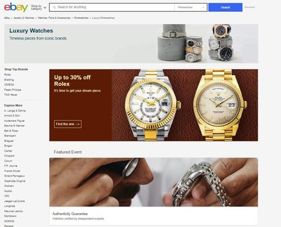eBay's Authenticity Guarantee provides an extra layer of trust and confidence for shoppers browsing the nearly eighty thousand new, pre-owned and vintage watches marked with the Authenticity Guarantee badge on eBay.com/LuxuryWatches.