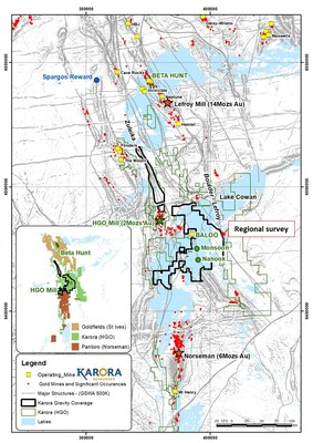 Figure 3: Location of the Higginsville Regional Gravity Survey. (CNW Group/Karora Resources Inc.)