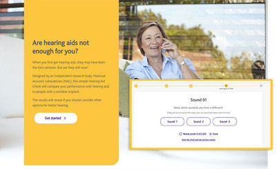 During September's Healthy Aging Month, Cochlear Hearing Aid Check, a new, free online tool, is available for adults with hearing aids who are struggling to hear to learn if they may benefit from a cochlear implant.