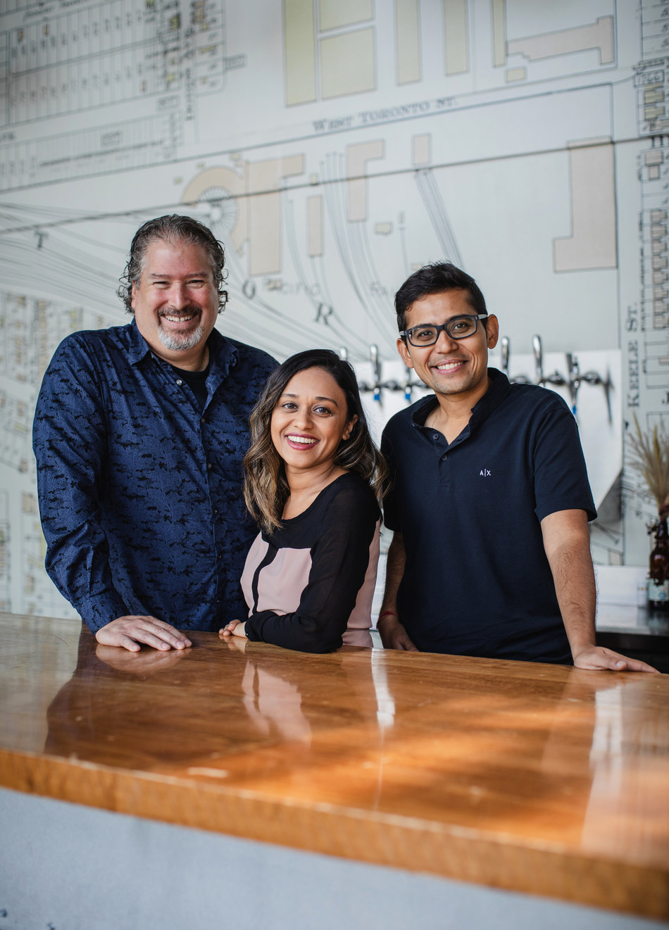 Wagepoint Announces Strategic Investment by Providence Strategic Growth. From left to right: Ryan Dineen (Co-Founder & Chief Architect), Leena Thampan (CPO), and Shrad Rao (Co-Founder & CEO). (CNW Group/Wagepoint)