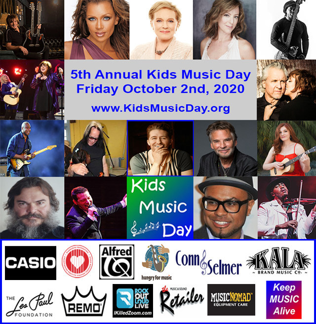 The milestone 5th Annual Kids Music Day will be celebrated on Friday October 2nd. Over 1,000 music schools, music stores and other music organizations will celebrate by holding a special event or promotion that benefits kids playing music. Over two dozen celebrities and music brands are lending their support for Kids Music Day this year including official spokesperson Matthew Morrison.