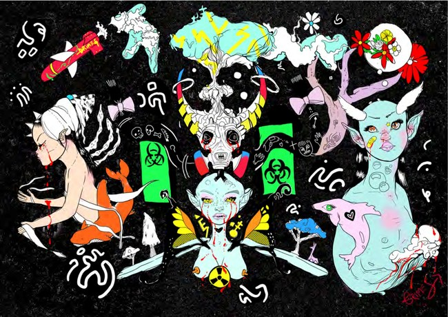 Artist and musician, Grimes, together with eBay and Maccarone Gallery, is releasing an exclusive series of artwork drops to benefit charity.