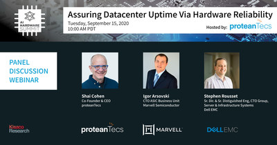 proteanTecs, Marvell, and Dell EMC to participate in AI HW Summit panel discussion on datacenter reliability