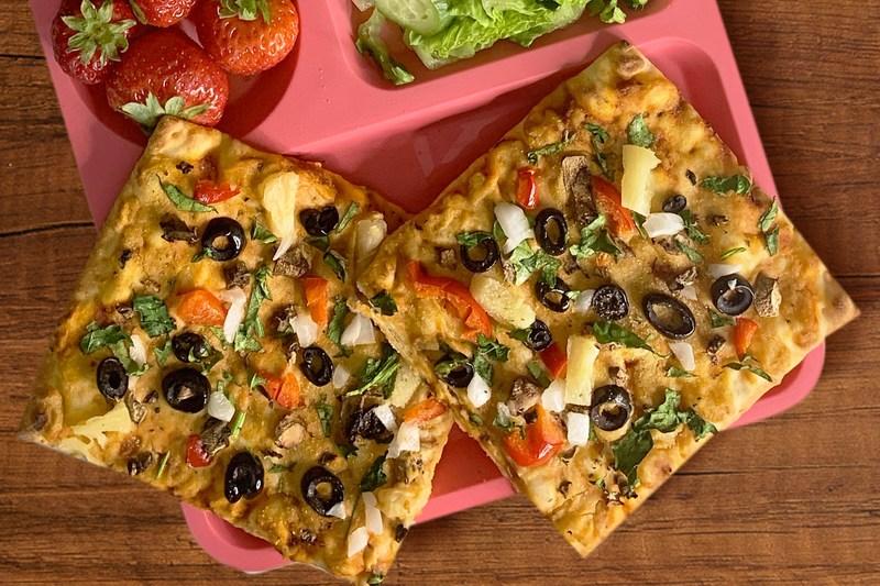Tabitha Brown's Hummus Flatbread Pizza