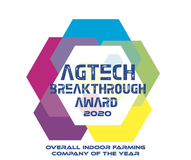 AgEye Technologies - AgTech Breakthrough Award Badge for Indoor Farming Company of the Year