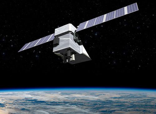 An artist rendering of the MethaneSAT satellite.