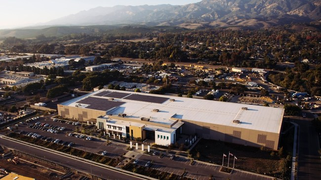 Direct Relief's California headquarters features a 155,000-square-foot pharmaceutical warehouse, the largest in the U.S. run by a charity, and includes validated cold-storage capacity to distribute vaccines and other temperature-sensitive medications.  (Photo by Donnie Hedden for Direct Relief)
