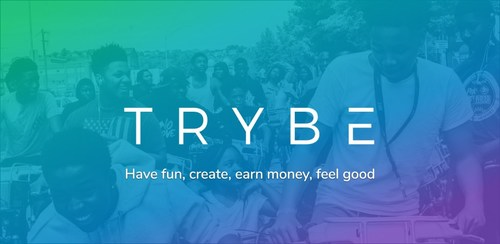 Trybe -- Social. Rewarded. Download the iOS or Android app to get early access. (CNW Group/Trybe)
