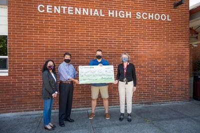 Anh Le, Xuejun (X.J.) Wang, Michael Miller, Mairi Scott-Aguirre – Centennial High School in Portland, OR