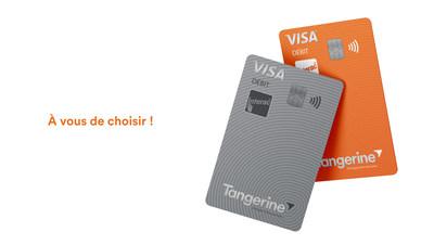 Tangerine offrira à ses clients deux modèles de carte de débit Visa (Groupe CNW/Tangerine)