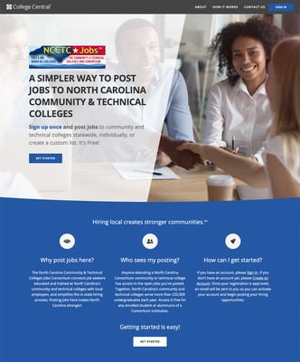 The NC Community and Technical Colleges Jobs Consortium website removes barriers and connects job seekers educated and trained at North Carolina's community colleges with local employers, simplifying the in-state hiring process. Posting jobs here makes North Carolina stronger!