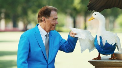 "In Aflac's latest television ad, ""Go Time,"" Iconic football coach Nick Saban pumps fists, or feathers, with the Aflac Duck as they help consumers and businesses understand what Aflac is, and how Aflac products help pay bills that health insurance doesn't cover. Go Time debuts tonight during the NFL football game between the Houston Texans and Kansas City Chiefs on NBC."