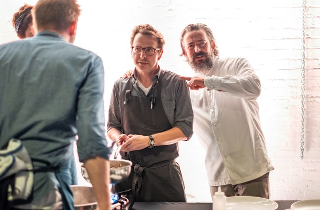 Chef Jason Hammel and Matthias Merges at the Feed Your Mind Gala