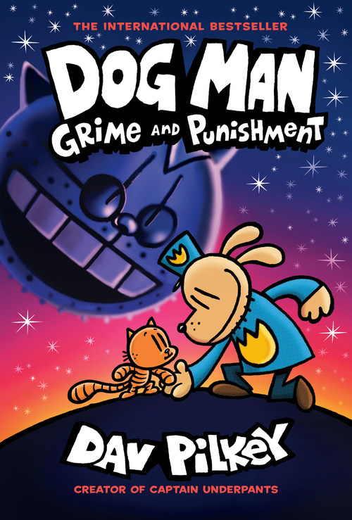 Dog Man: Grime and Punishment by Dav Pilkey is the #1 Bestselling book overall in the U.S. and Canada