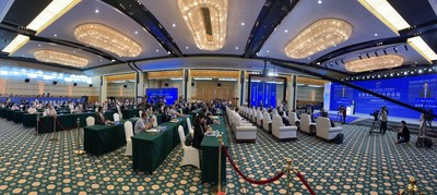Photo taken on September 8 shows the interior scene of the Silk Road Maritime International Cooperation Forum 2020.