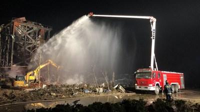 Journée mondiale des premiers secours 2020 : XCMG dévoile ses premiers véhicules d'urgence destinés à la lutte contre les incendies et aux sauvetages. (PRNewsfoto/XCMG)