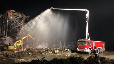 Dia Mundial de Primeiros Socorros 2020: XCMG mostra seus primeiros veículos de resgate de emergência e incêndio. (PRNewsfoto/XCMG)