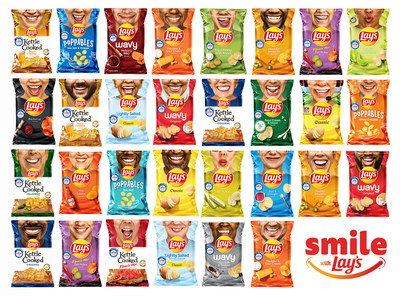 """Lay's transforms millions of potato chip bags to feature the real smiles of 30 """"Everyday Smilers"""" to benefit Operation Smile, with proceeds up to $1 million."""