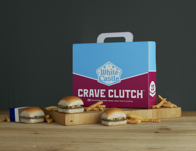 White Castle, America's first fast-food hamburger chain, is once again disrupting how customers transport its famous Sliders. The colorful Crave Clutch debuts today in all White Castle restaurants and will be available for a limited time. Holding 20 Sliders of any variety, the Crave Clutch sits nicely between the classic 10 Sack and the 30-Slider Crave Case, making it the perfect choice for family meals and small gatherings.