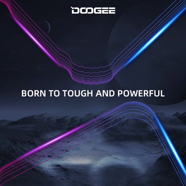 A picture of DOOGEE's New Phones. Born to Be Tough and Powerful.