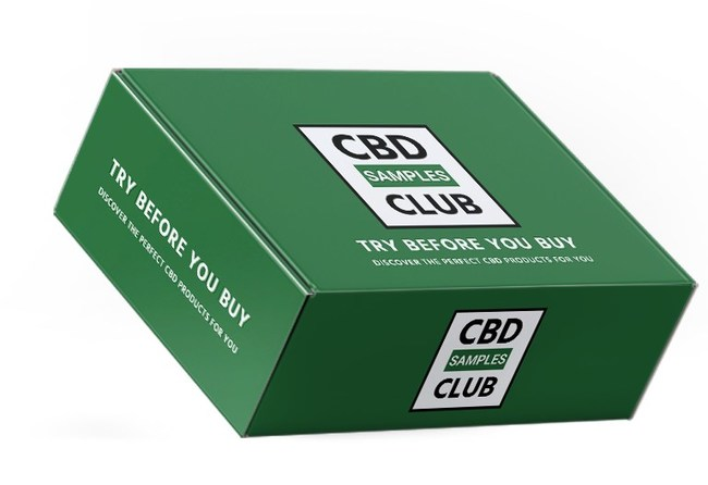 CBD subscription box of product samples