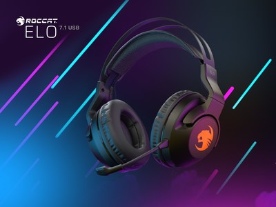 "The new ROCCAT Elo 7.1 USB surround sound RGB gaming headset combines exceptional 7.1 channel immersive 360° ""visual audio"" surround sound with a unique, weightless fit for supremely comfortable gaming sessions."