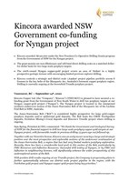Kincora awarded NSW Government co-funding for Nyngan project
