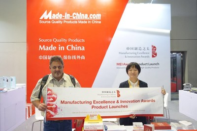 "The global buyer had a nice chat with the staff of MEI Awards at the ""Global Boutique Briefing""."
