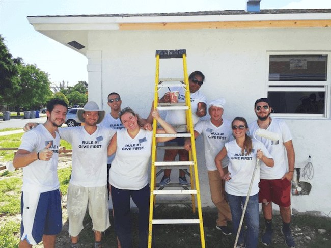 The FCHB team at a habitat for humanity volunteering day!