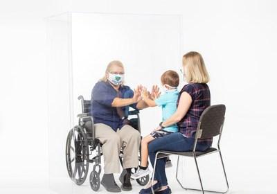 Acrylic Wheelchair/Rollator Barrier